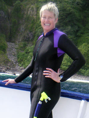 photo of Mel McCombie in a wetsuit