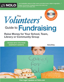 book cover: The Volunteers' Guide to Fundraising